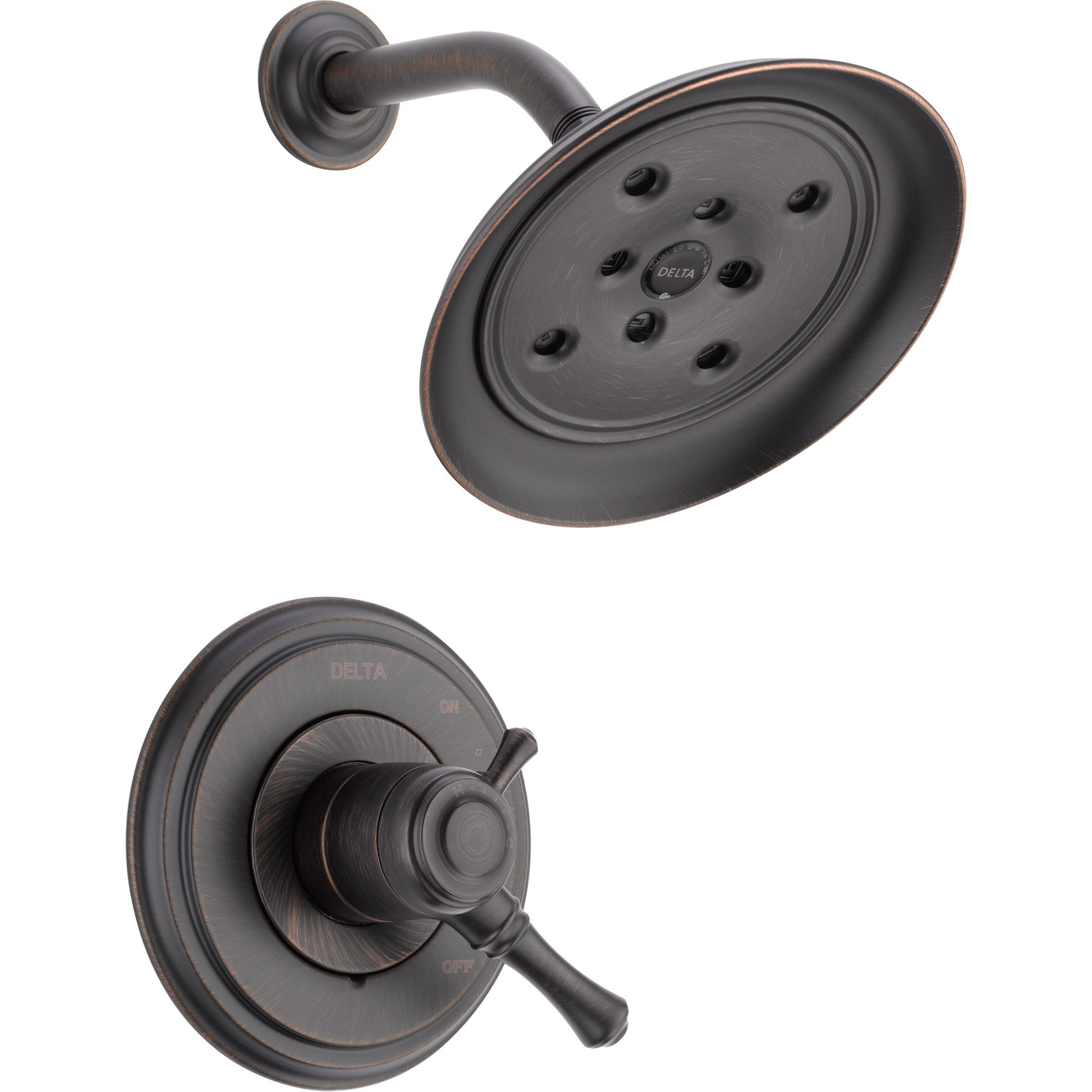 Delta Cassidy Dual Control Temp/Volume Venetian Bronze Shower Trim Kit 584212