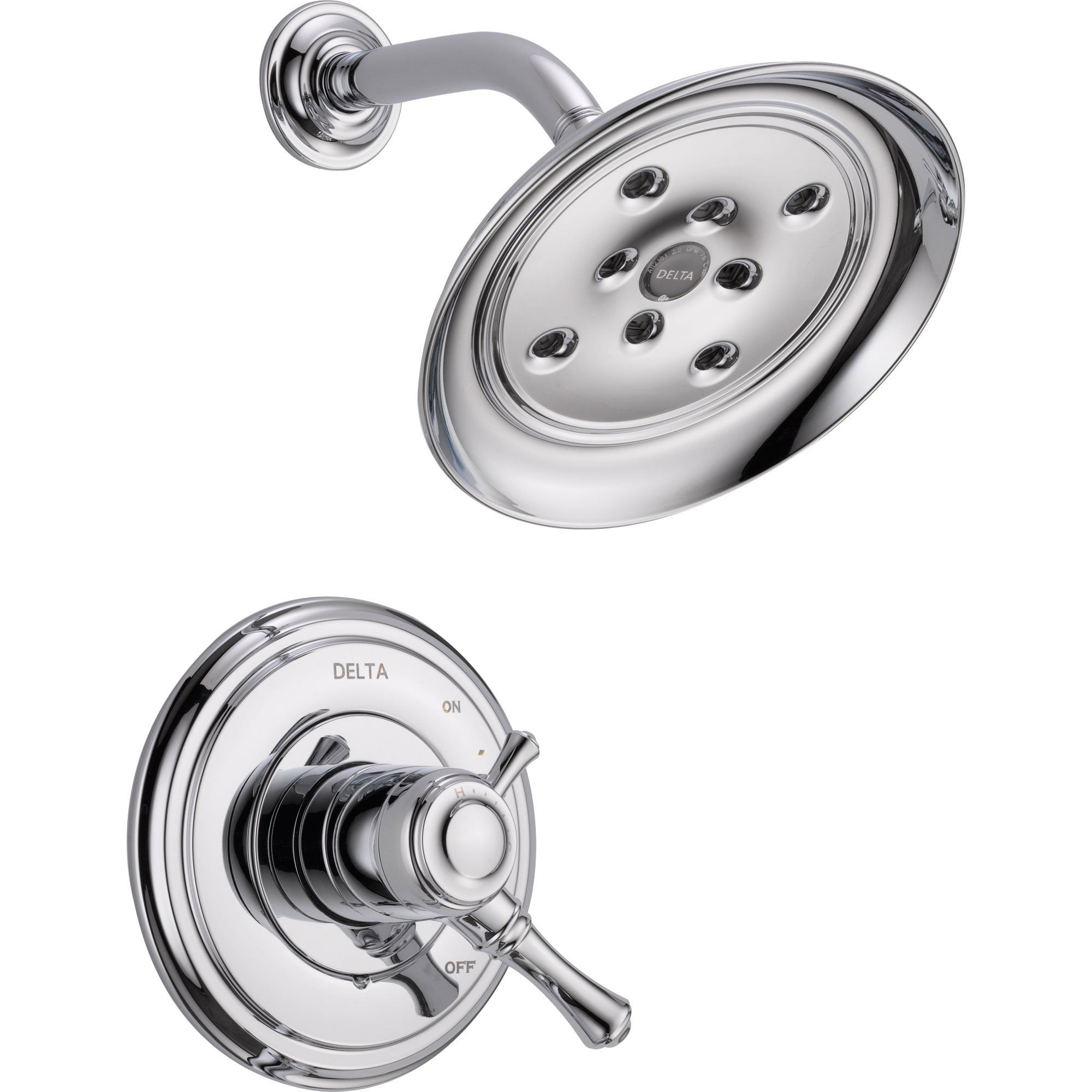 Delta Cassidy Dual Control Temp/Volume Chrome Shower Only Faucet w/ Valve D722V