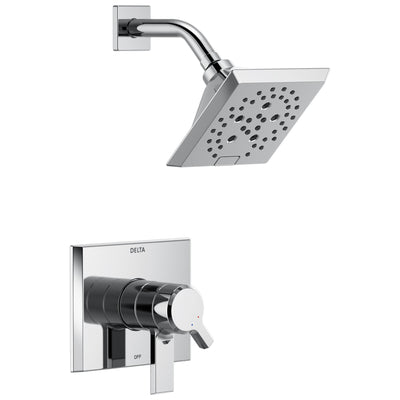 Delta Pivotal Chrome Finish Monitor 17 Series H2Okinetic Shower only Faucet Trim Kit (Requires Valve) DT17299