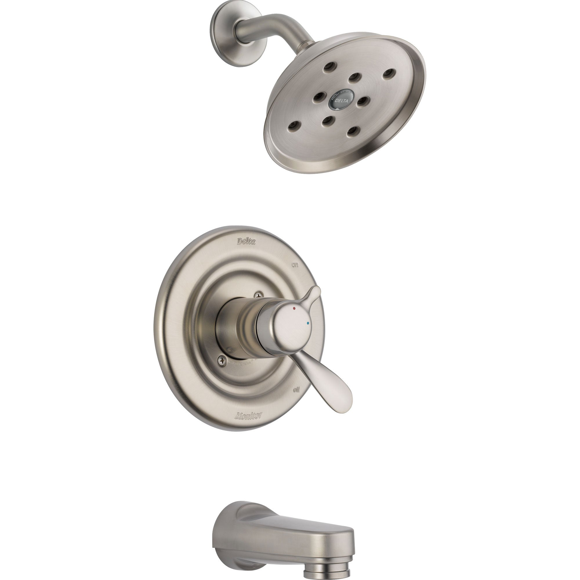 Delta Dual Control Temp/Volume Tub & Shower with Valve in Stainless Steel D363V
