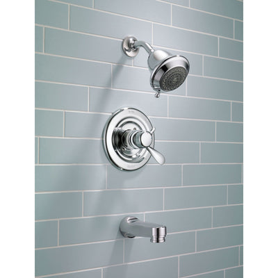 Delta Innovations Temp/Volume Control Chrome Tub and Shower Faucet w/Valve D359V