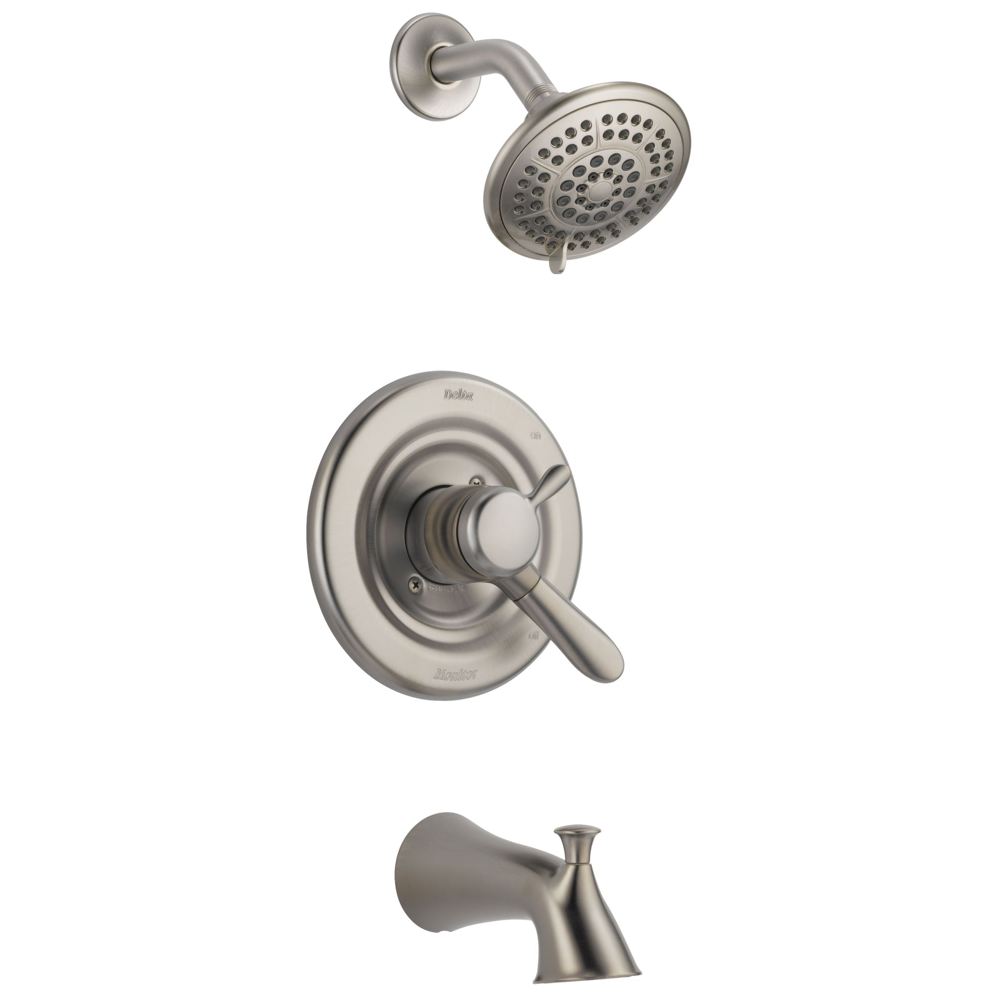 Delta Lahara Temp/Volume Tub and Shower with Valve in Stainless Steel D369V