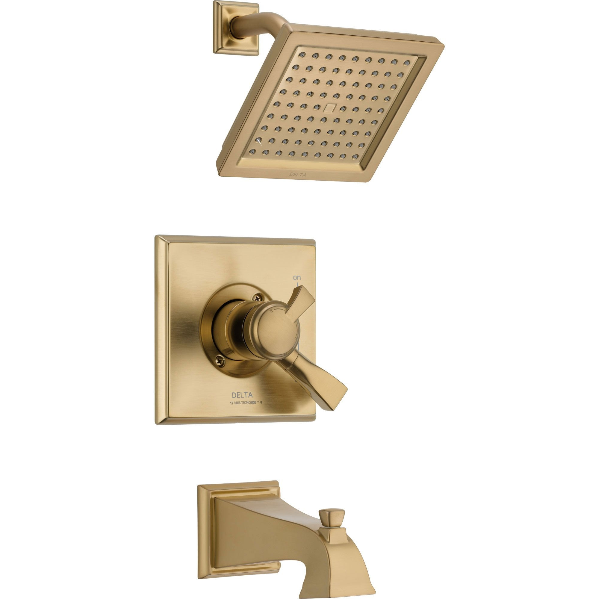 Delta Dryden Temp/Volume Champagne Bronze Tub & Shower Faucet with Valve D371V