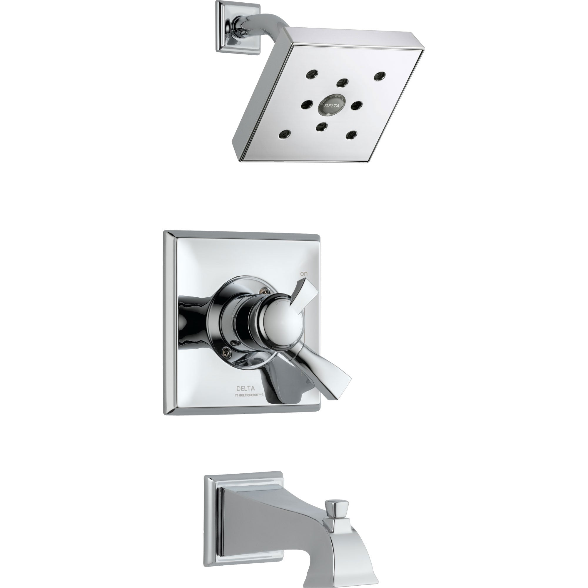 Delta Dryden Temp/Volume Dual Control Chrome Tub and Shower Faucet Trim 550103