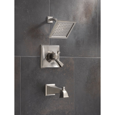 Delta Dryden Stainless Steel Finish Monitor 17 Series Water Efficient Tub & Shower Combo Faucet Trim Kit (Requires Valve) DT17451SSWE