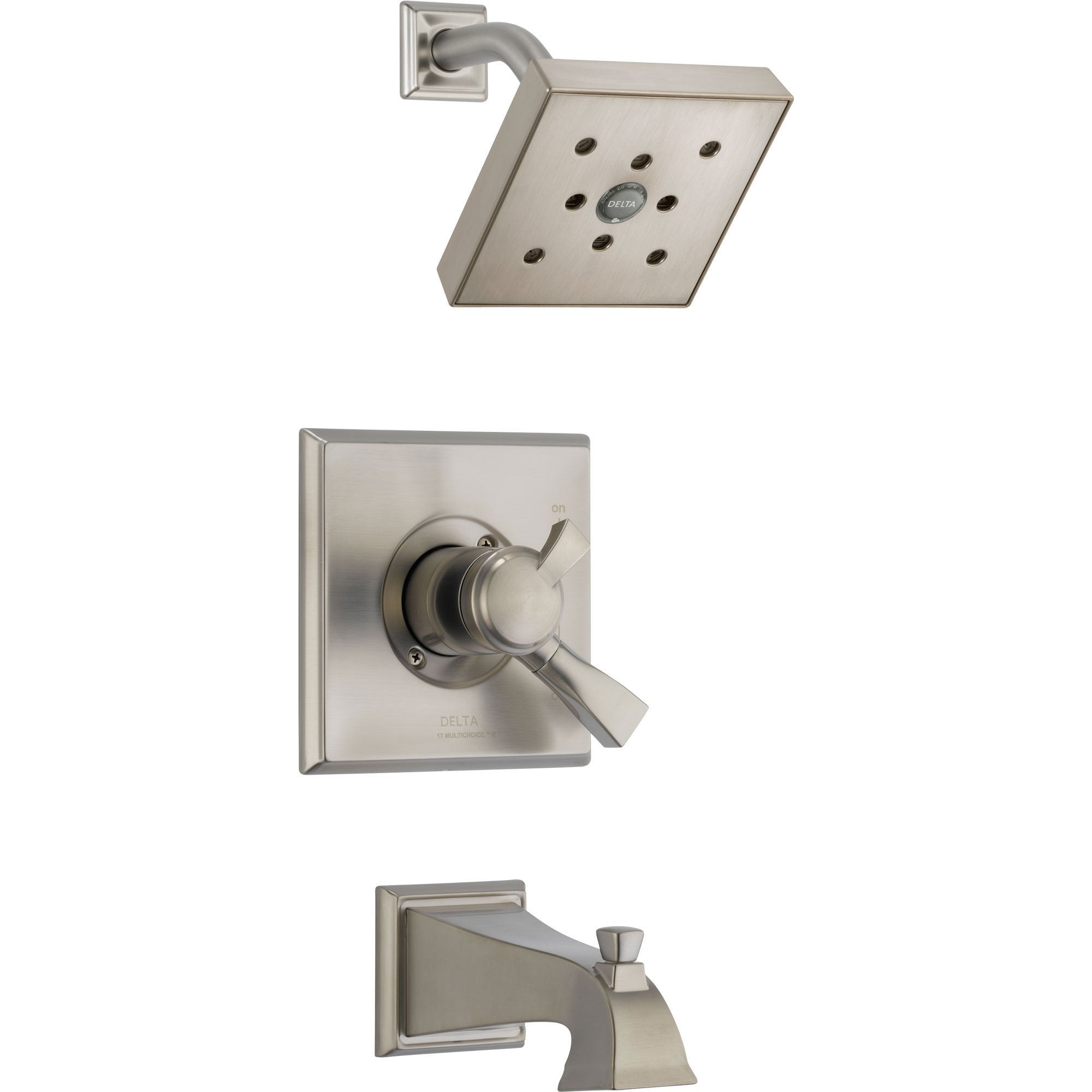 Delta Dryden Temp/Volume Tub & Shower Faucet with Valve in Stainless Steel D377V