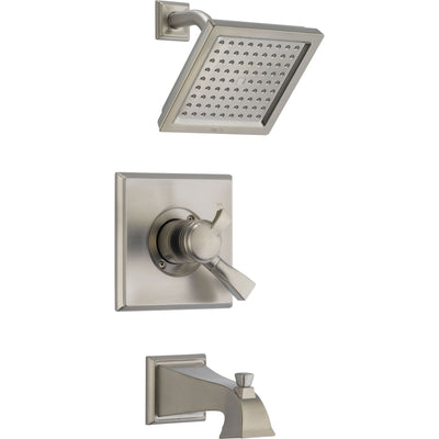 Delta Dryden Temp/Volume Stainless Steel Finish Tub & Shower Faucet Trim 457053