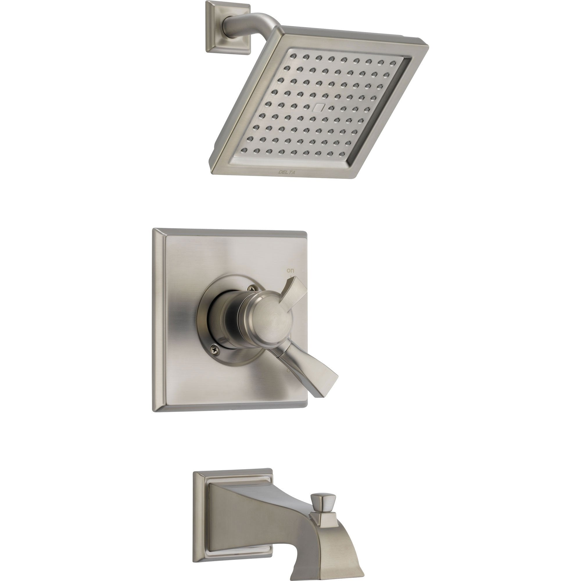 Delta Dryden Temp/Volume Tub & Shower Faucet with Valve in Stainless Steel D443V