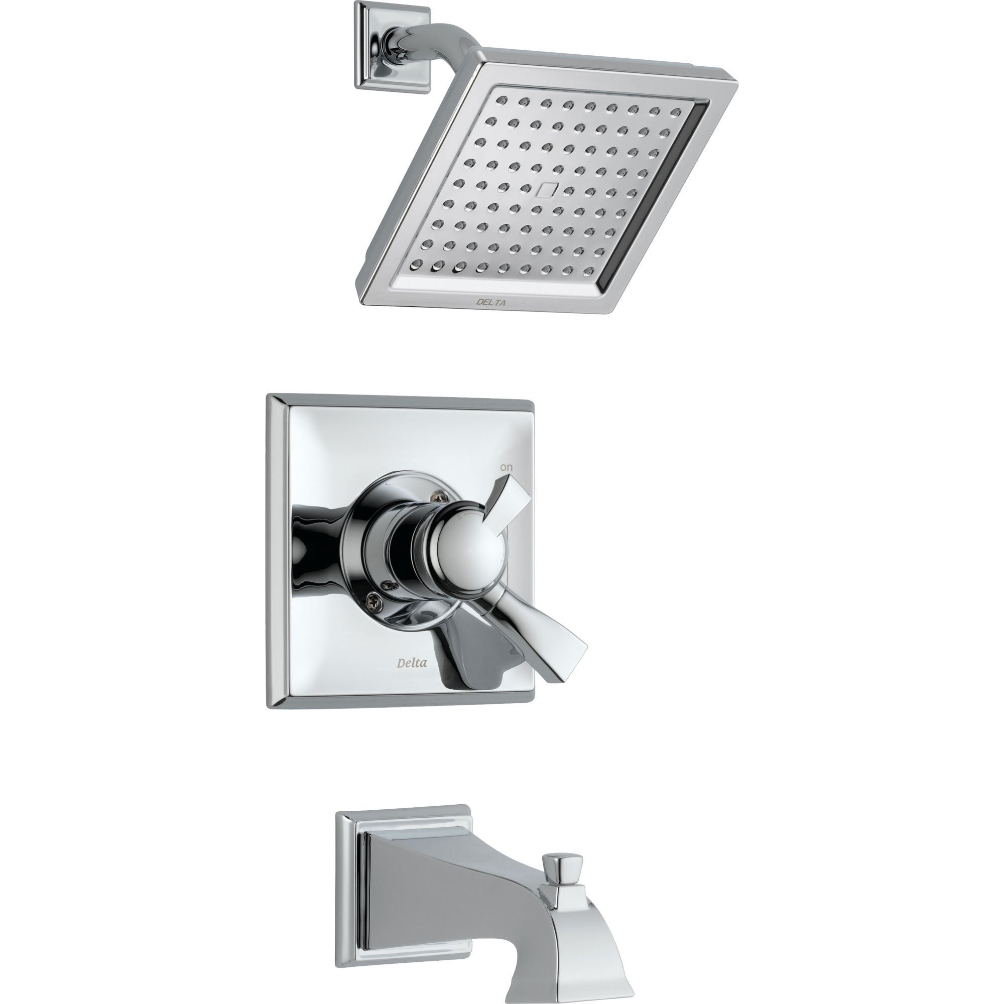 Delta Dryden Temp/Volume Dual Control Chrome Tub and Shower Faucet w/Valve D370V
