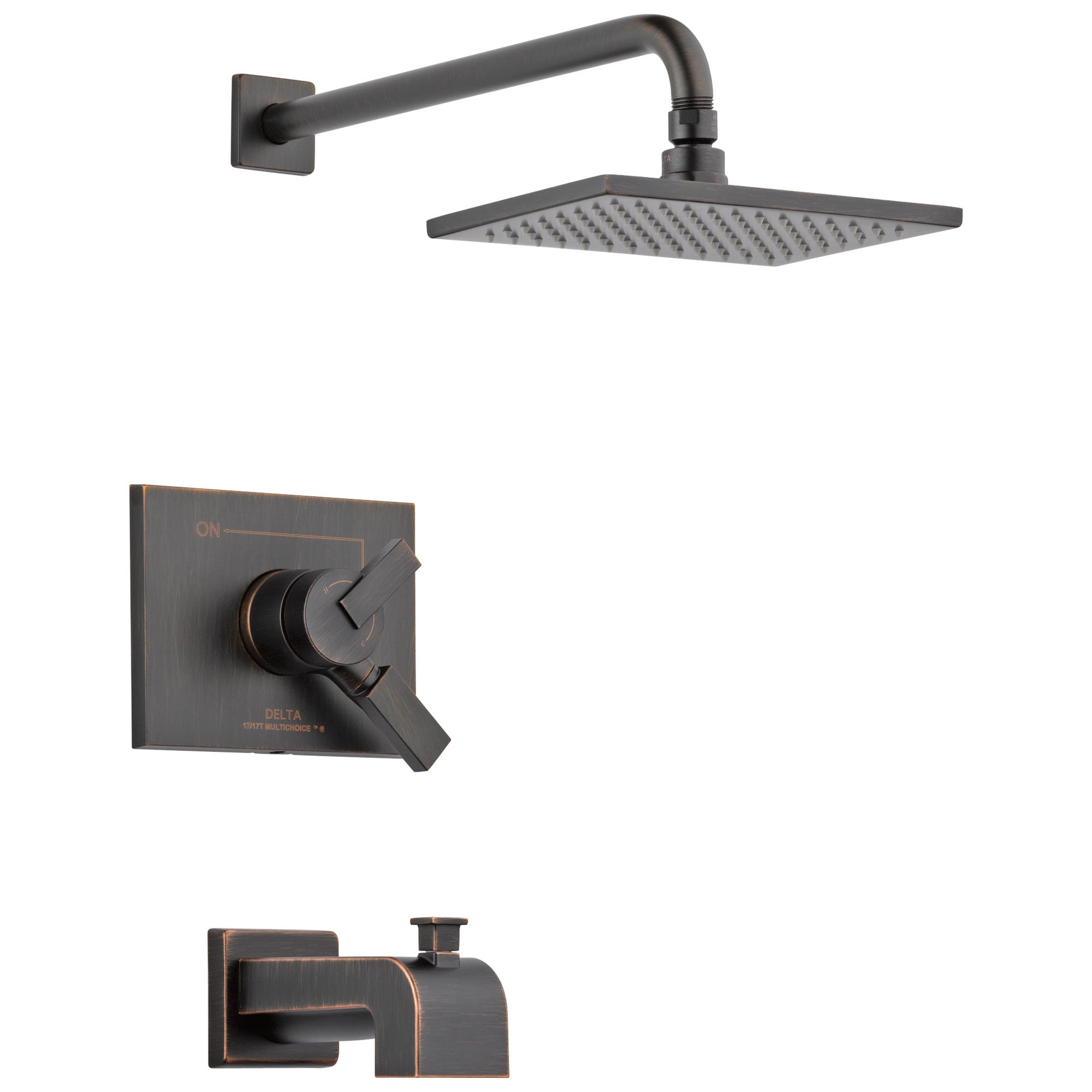 Delta Vero Venetian Bronze Finish Monitor 17 Series Water Efficient Tub & Shower Combo Faucet Trim Kit (Requires Valve) DT17453RBWE