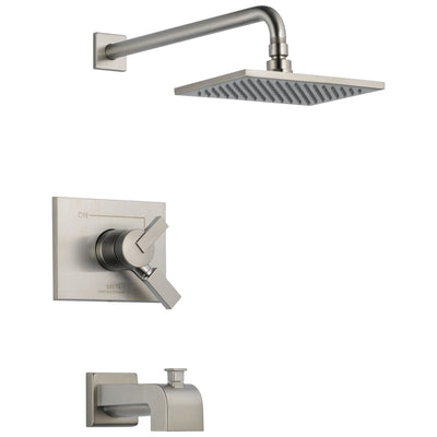 Delta Vero Stainless Steel Finish Monitor 17 Series Water Efficient Tub & Shower Combo Faucet Trim Kit (Requires Valve) DT17453SSWE
