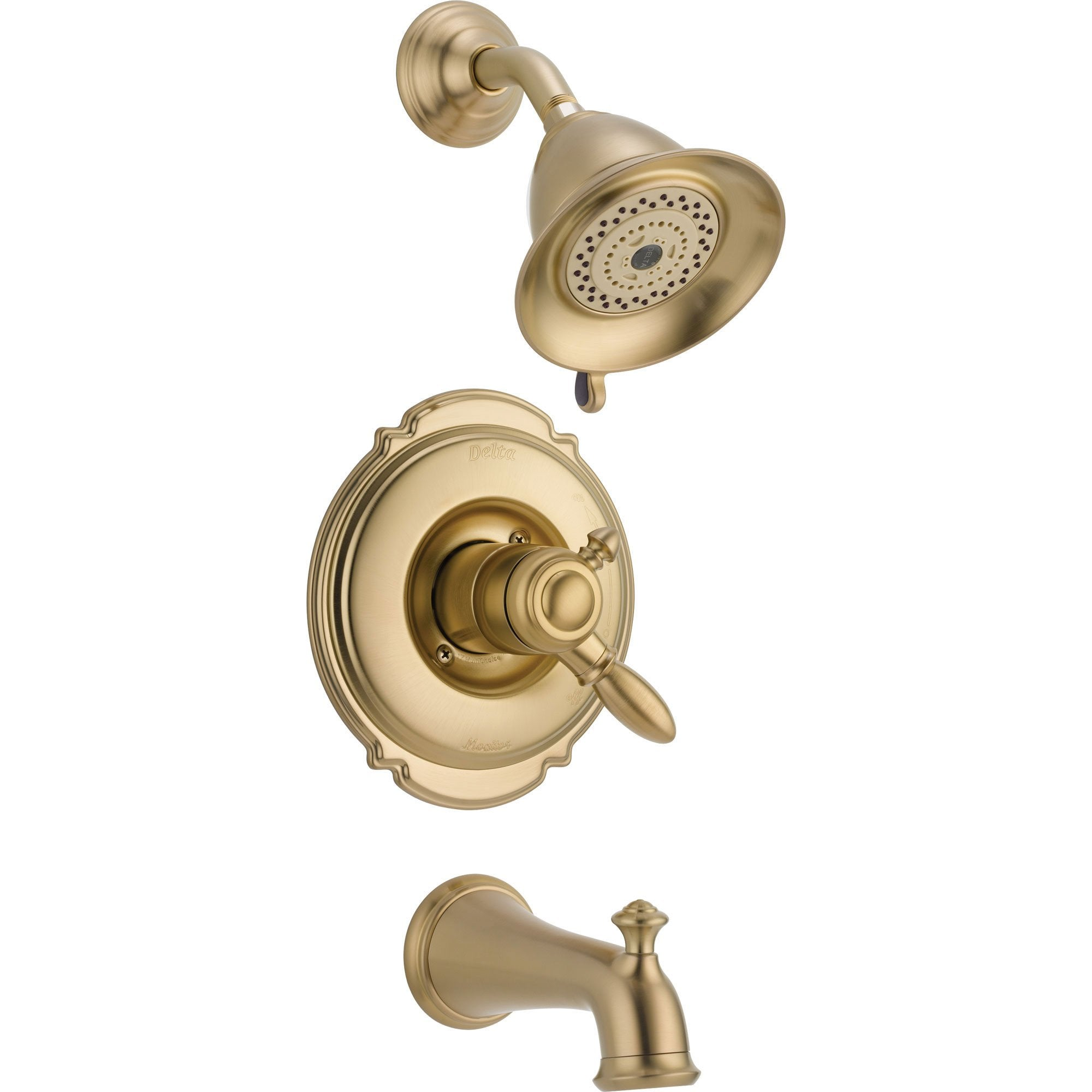 Delta Victorian Champagne Bronze Pressure Balanced Tub and Shower w/Valve D387V