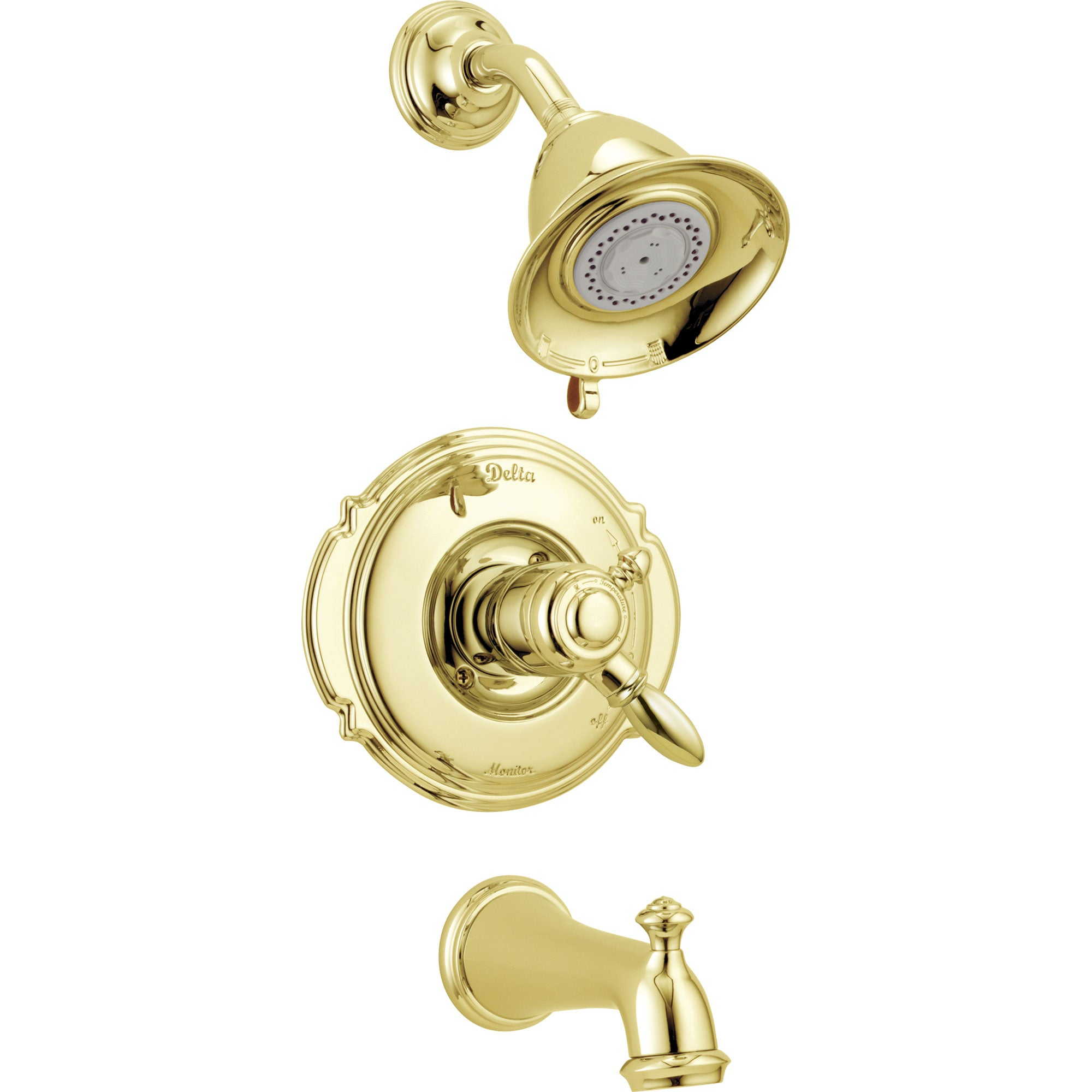 Delta Victorian Polished Brass Pressure Balanced Tub and Shower Trim 779469