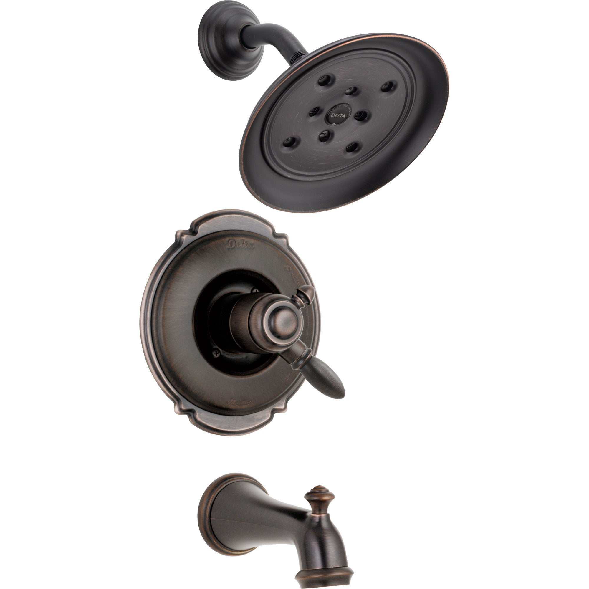 Delta Victorian Dual Control Venetian Bronze Tub and Shower Faucet Trim 556014
