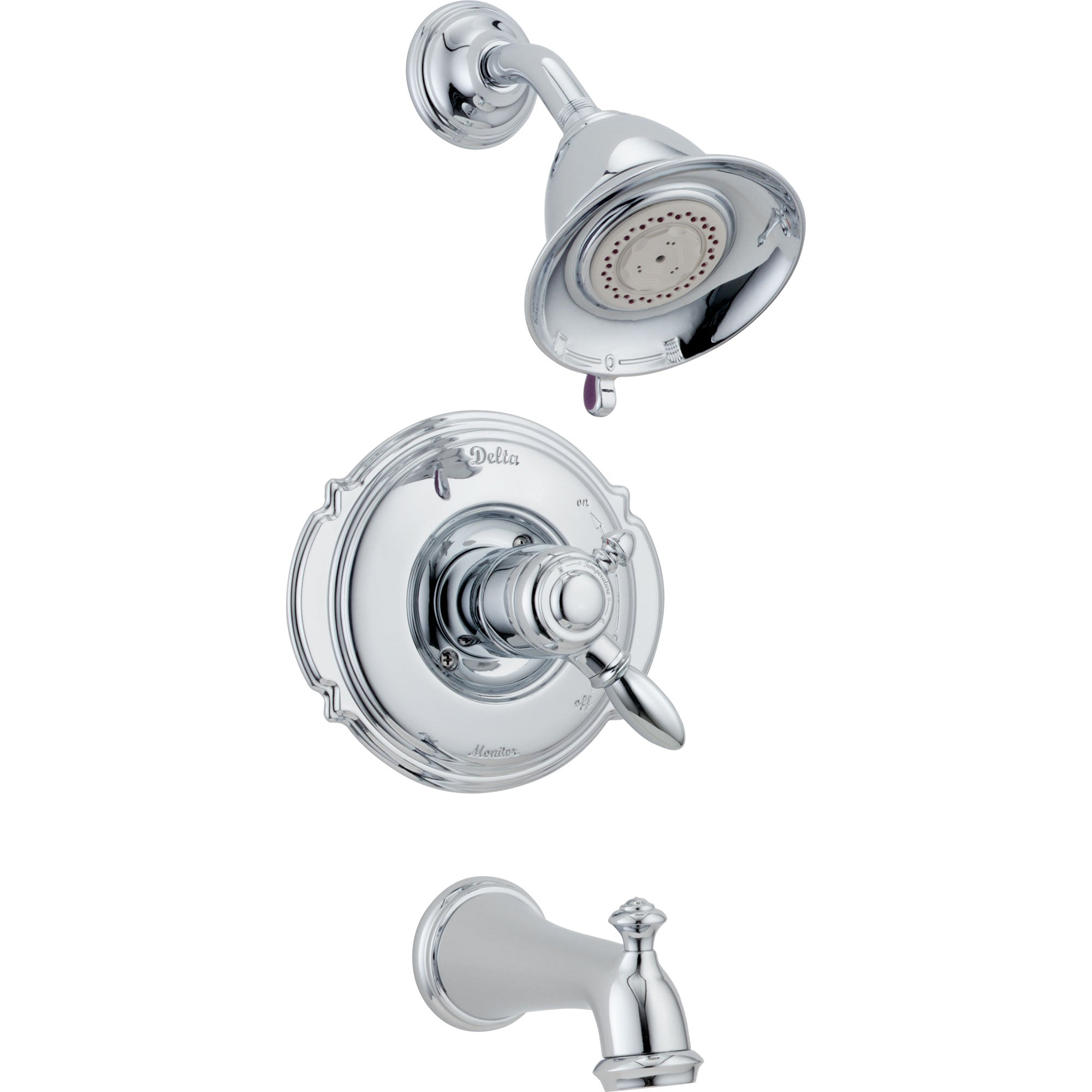 Delta Victorian Chrome Pressure Balanced Tub and Shower Faucet Trim Kit 779413