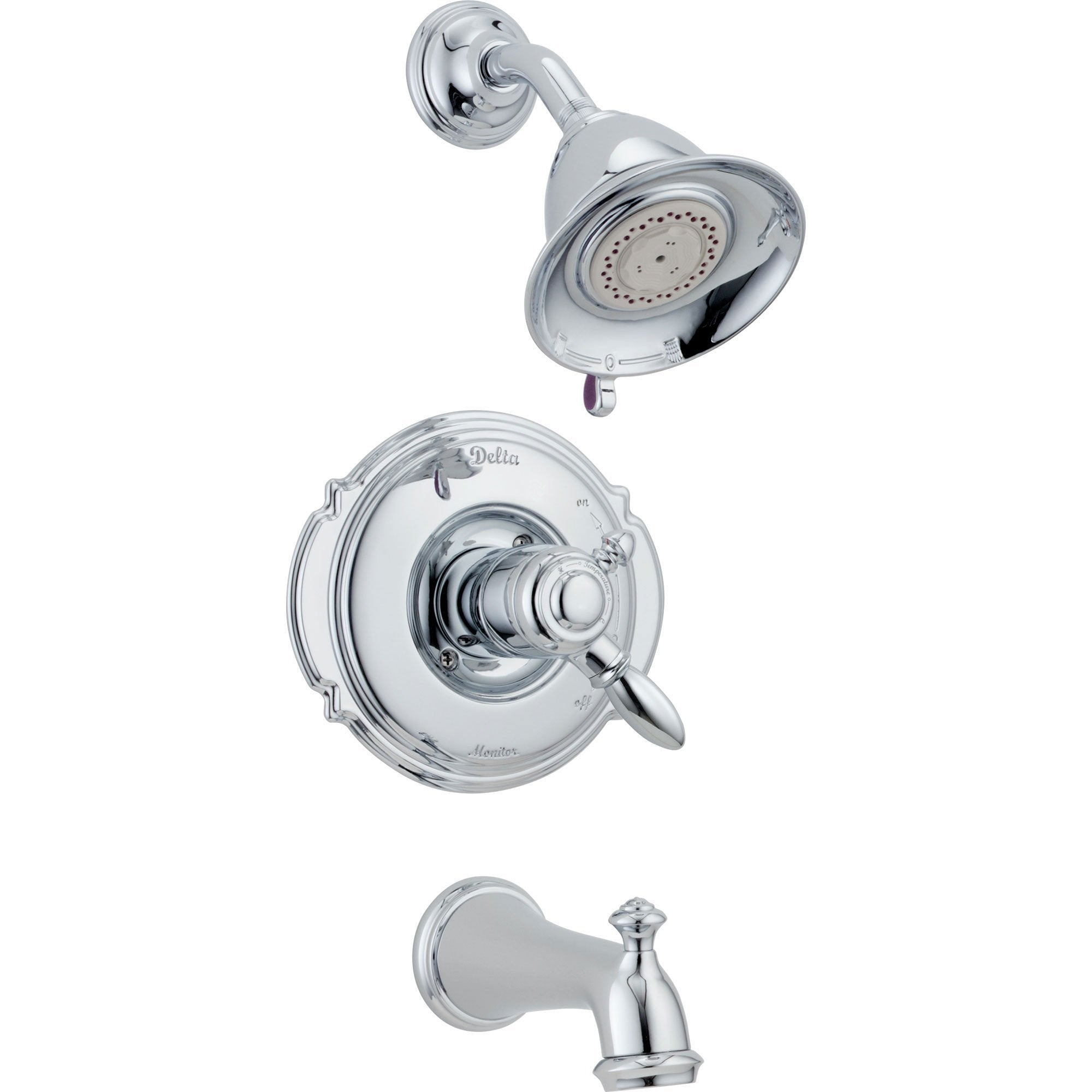 Delta Victorian Chrome Pressure Balanced Tub and Shower Faucet with Valve D386V