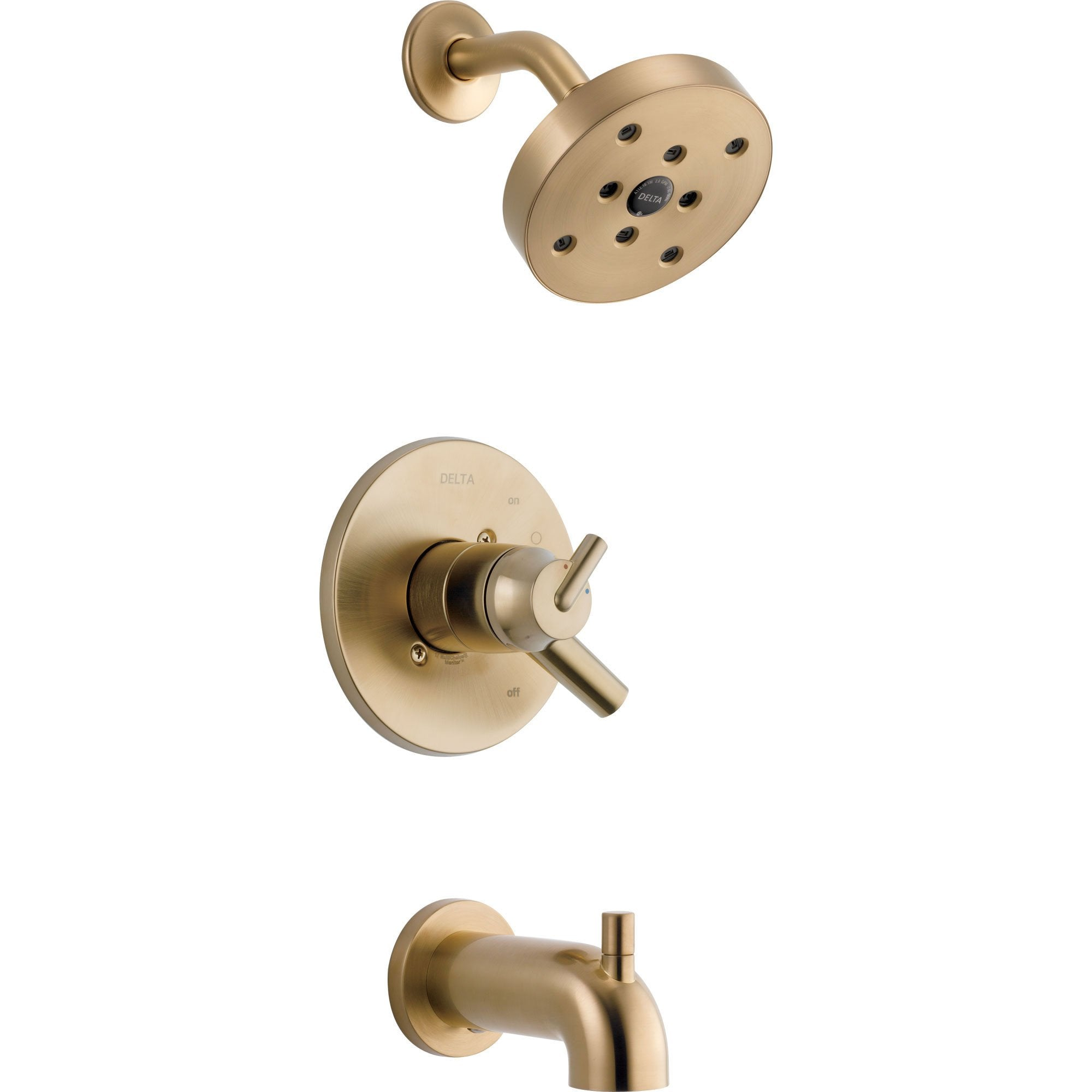 Delta Trinsic Champagne Bronze Dual Control Modern Tub and Shower w/Valve D394V
