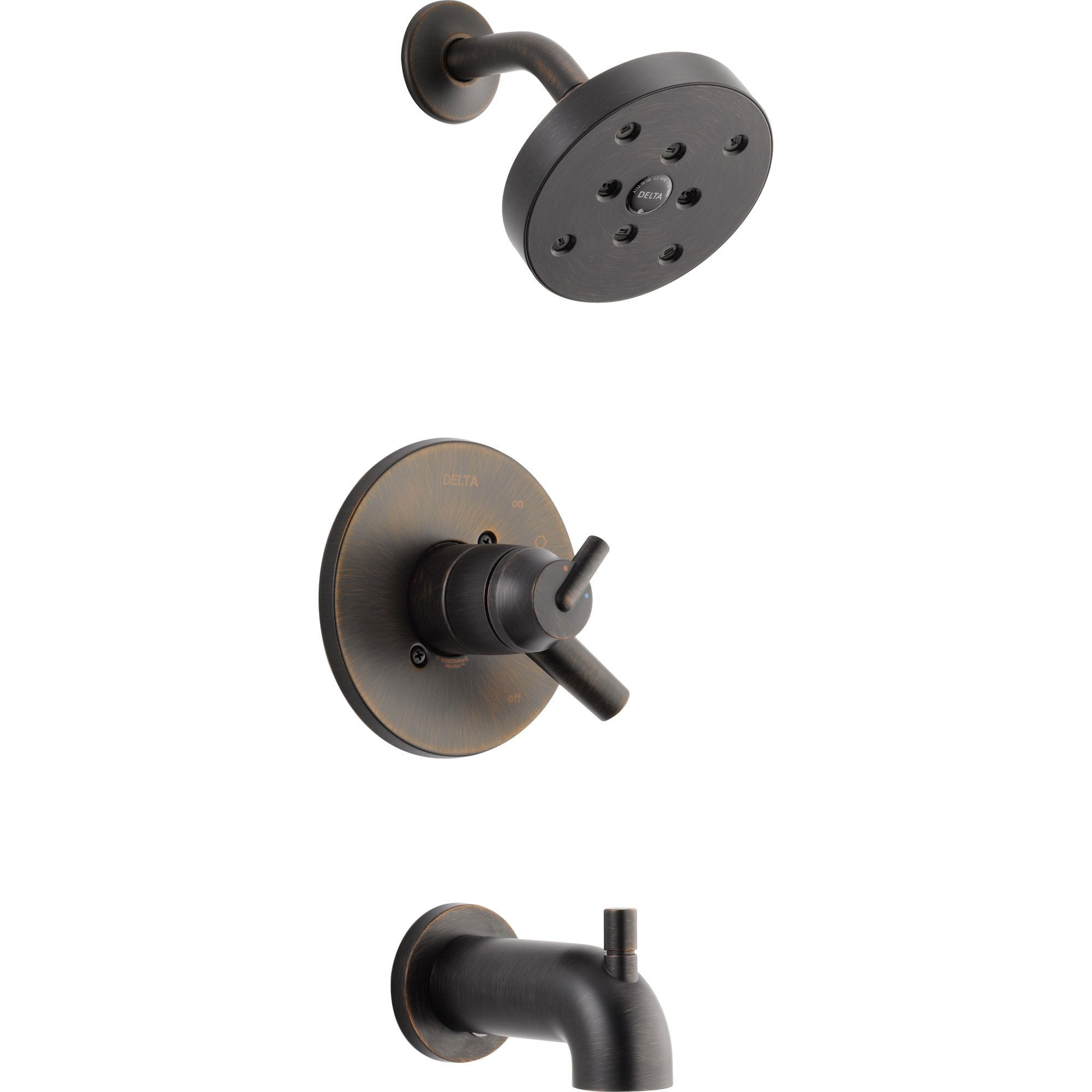 Delta Trinsic Venetian Bronze Dual Control Modern Tub and Shower w/ Valve D395V