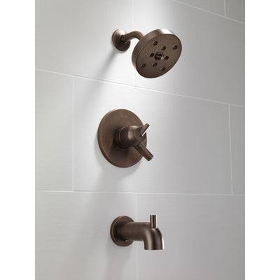 Delta Trinsic Venetian Bronze Dual Control Modern Tub and Shower w/ Valve D462V
