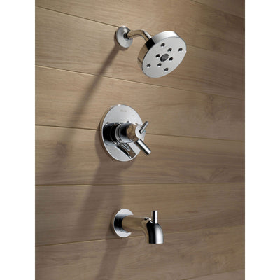 Delta Trinsic Chrome Dual Control Modern Tub and Shower Faucet with Valve D460V