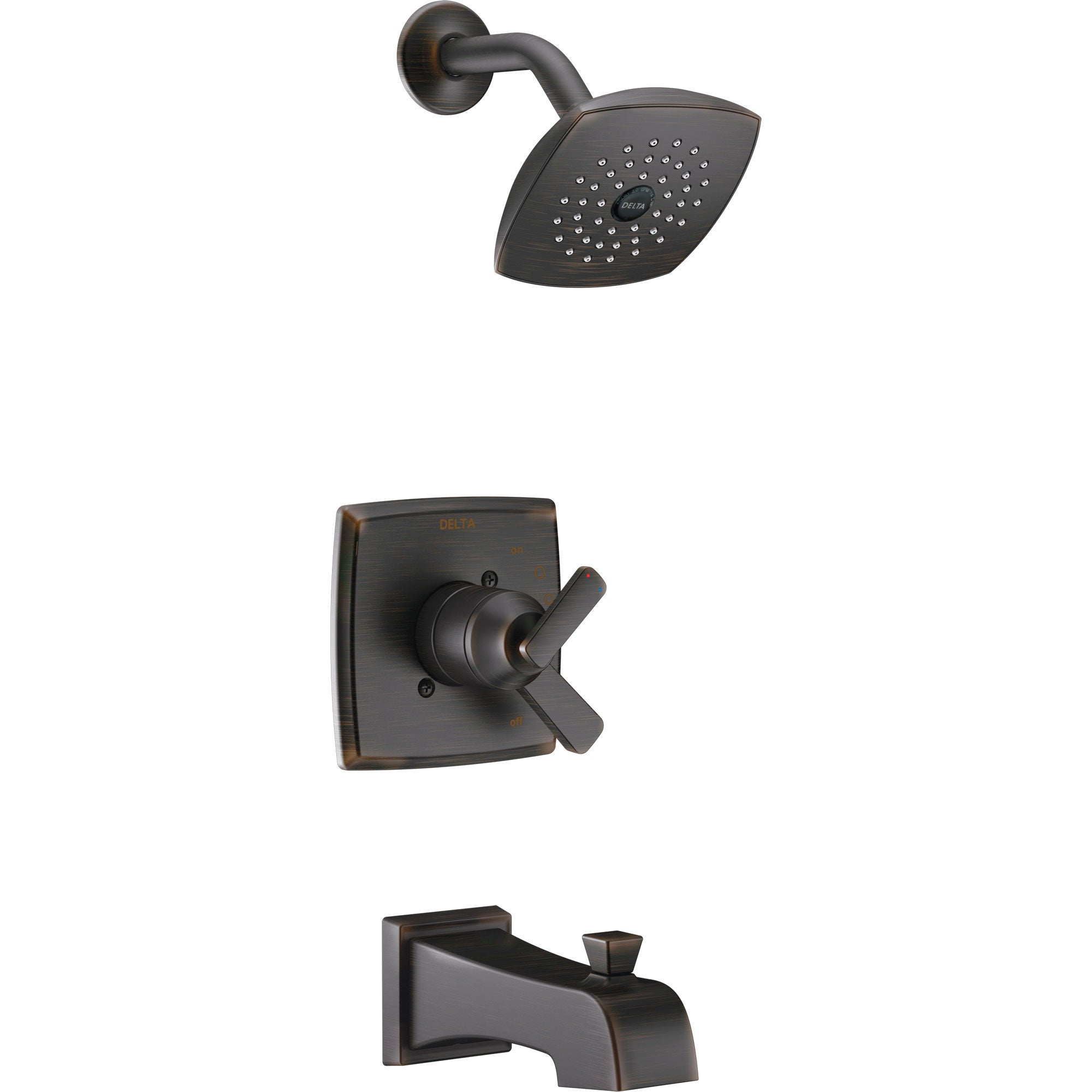 Delta Ashlyn Venetian Bronze Monitor 17 Series Tub and Shower Combo Faucet with Dual Temperature and Pressure Control INCLUDES Rough-in Valve with Stops D1121V