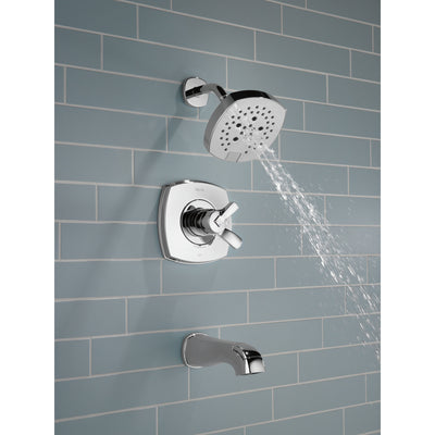 Delta Stryke Chrome Finish 17 Series Tub and Shower Combo Faucet Trim Kit (Requires Valve) DT17476