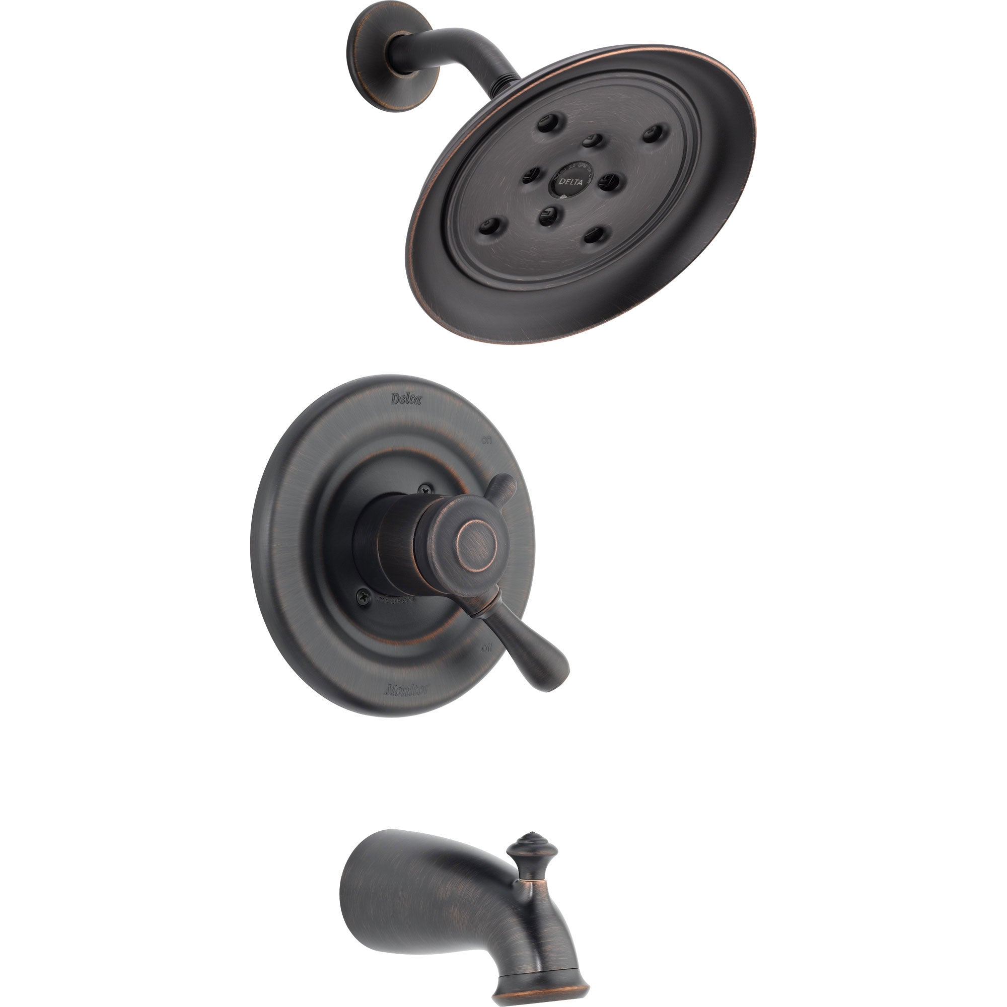Delta Leland Venetian Bronze Dual Control Temp/Volume Tub and Shower Trim 550108