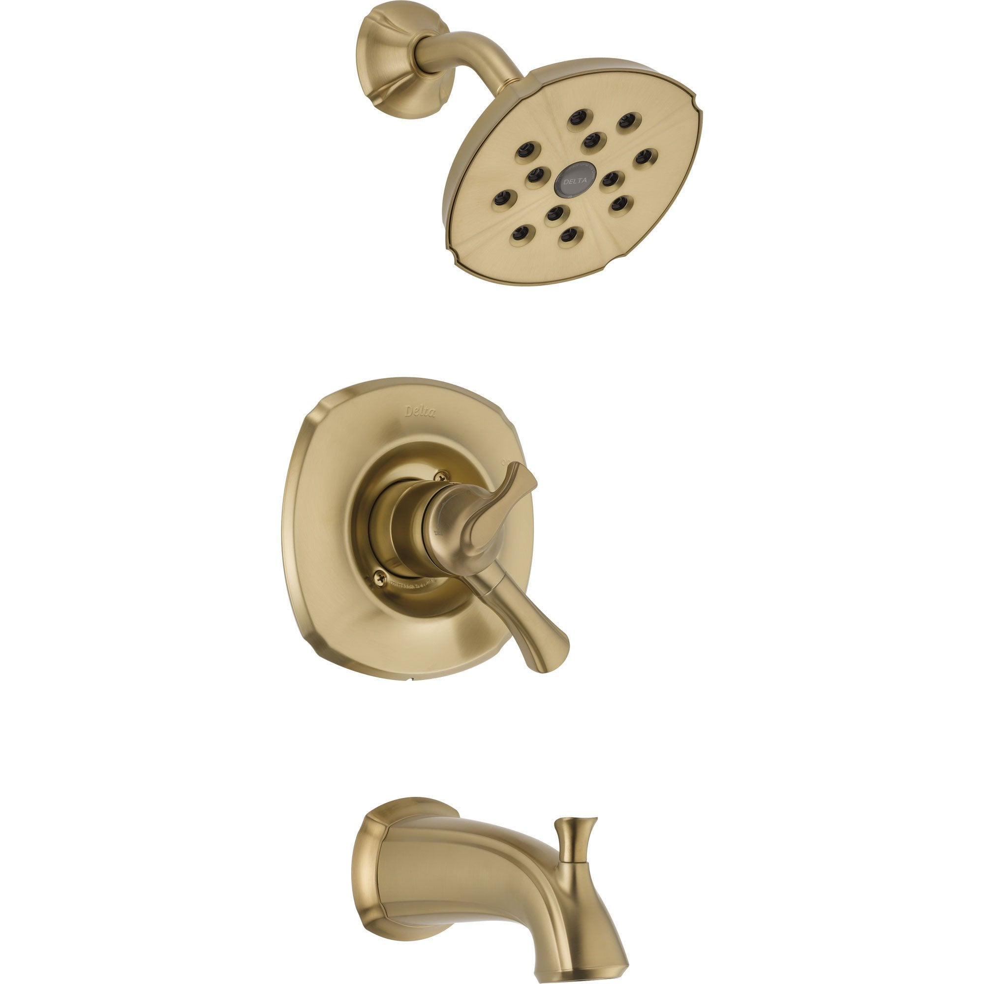 Delta Addison Champagne Bronze Tub and Shower Combination Faucet w/ Valve D408V