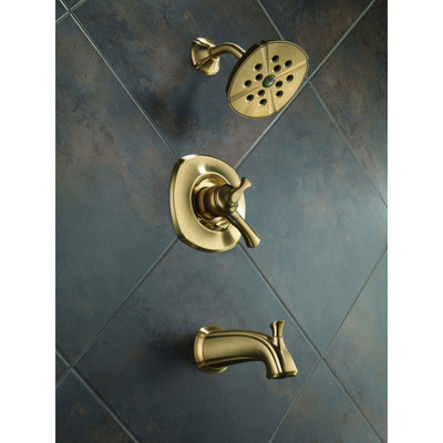 Delta Addison Champagne Bronze Tub and Shower Combination Faucet w/ Valve D475V