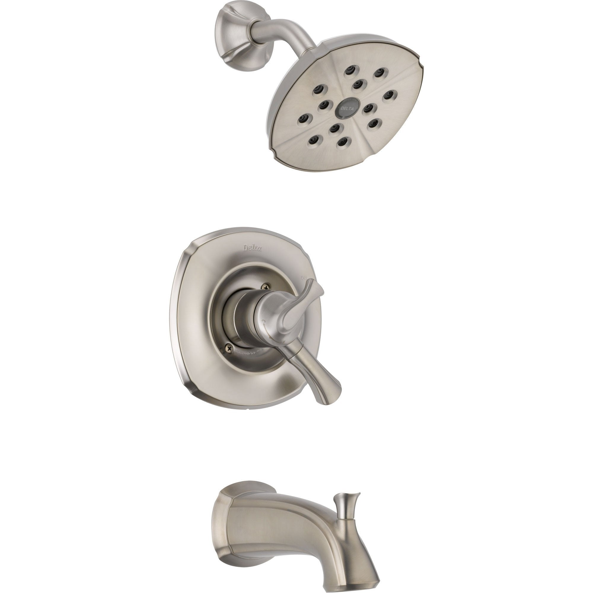 Delta Addison Stainless Steel Finish Temp/Volume Tub and Shower with Valve D477V