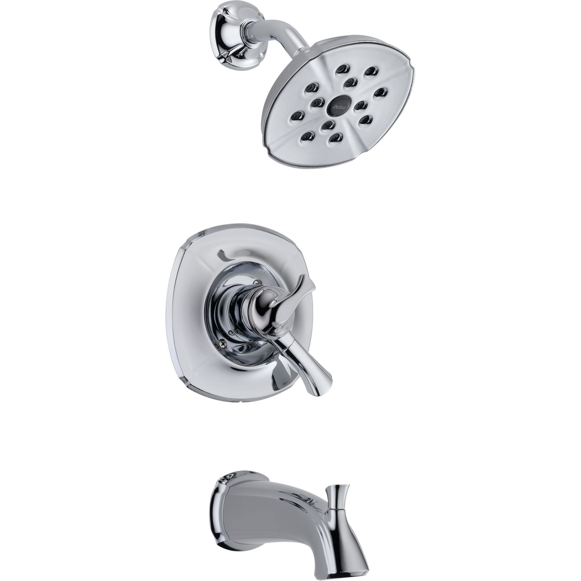 Delta Addison Chrome Dual Control Tub and Shower Combo Faucet with Valve D407V