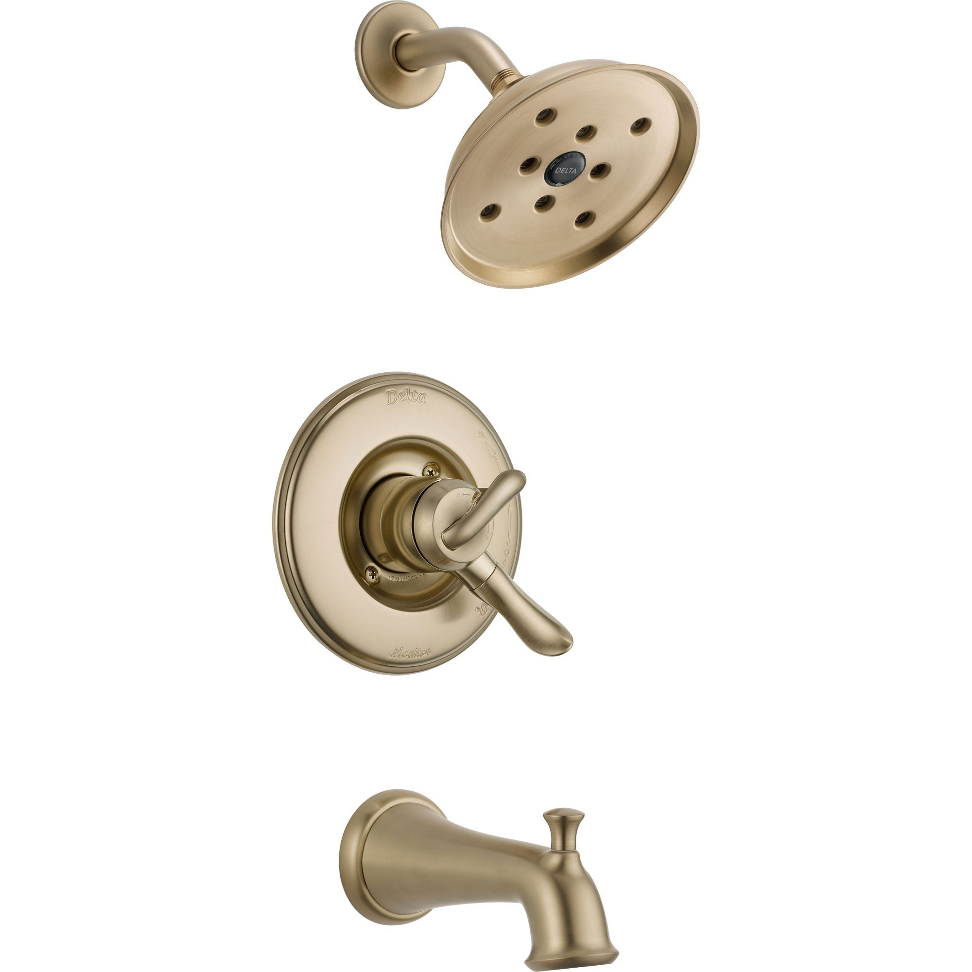 Delta Linden Dual Control Champagne Bronze Tub and Shower Faucet Trim Kit 555911