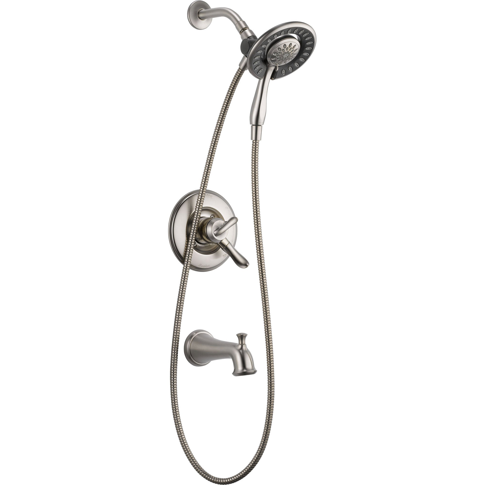 Delta Linden Tub and Shower Stainless Finish Handheld & Shower Head Trim 555620