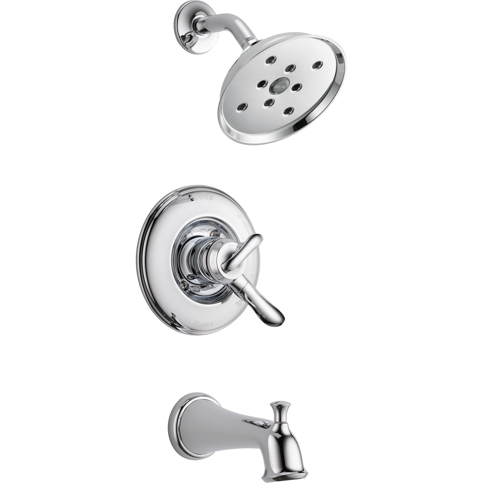 Delta Linden Chrome Dual Control Temp/Volume Tub and Shower Faucet w/Valve D411V