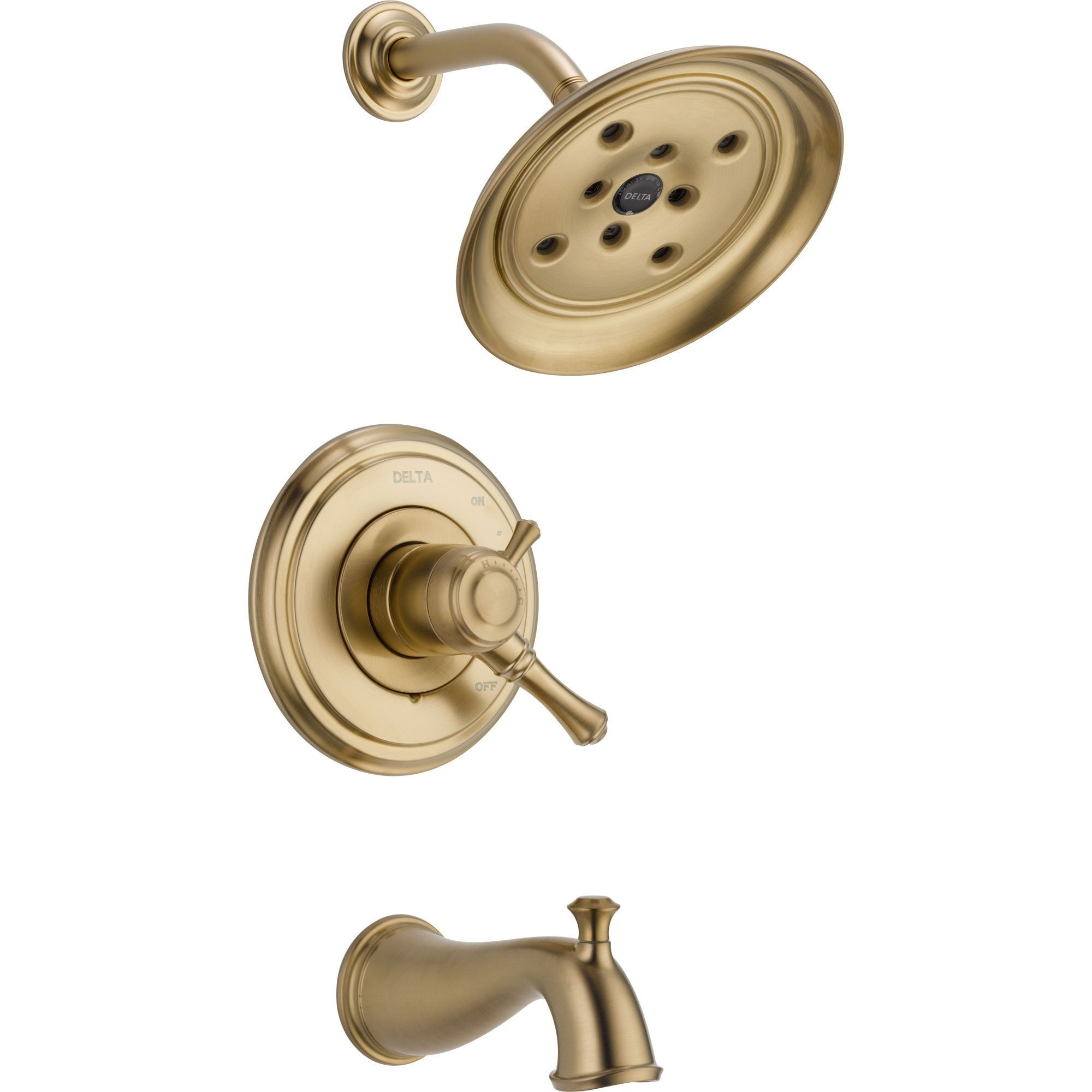 Delta Cassidy Champagne Bronze Temp/Volume Tub & Shower Faucet with Valve D480V