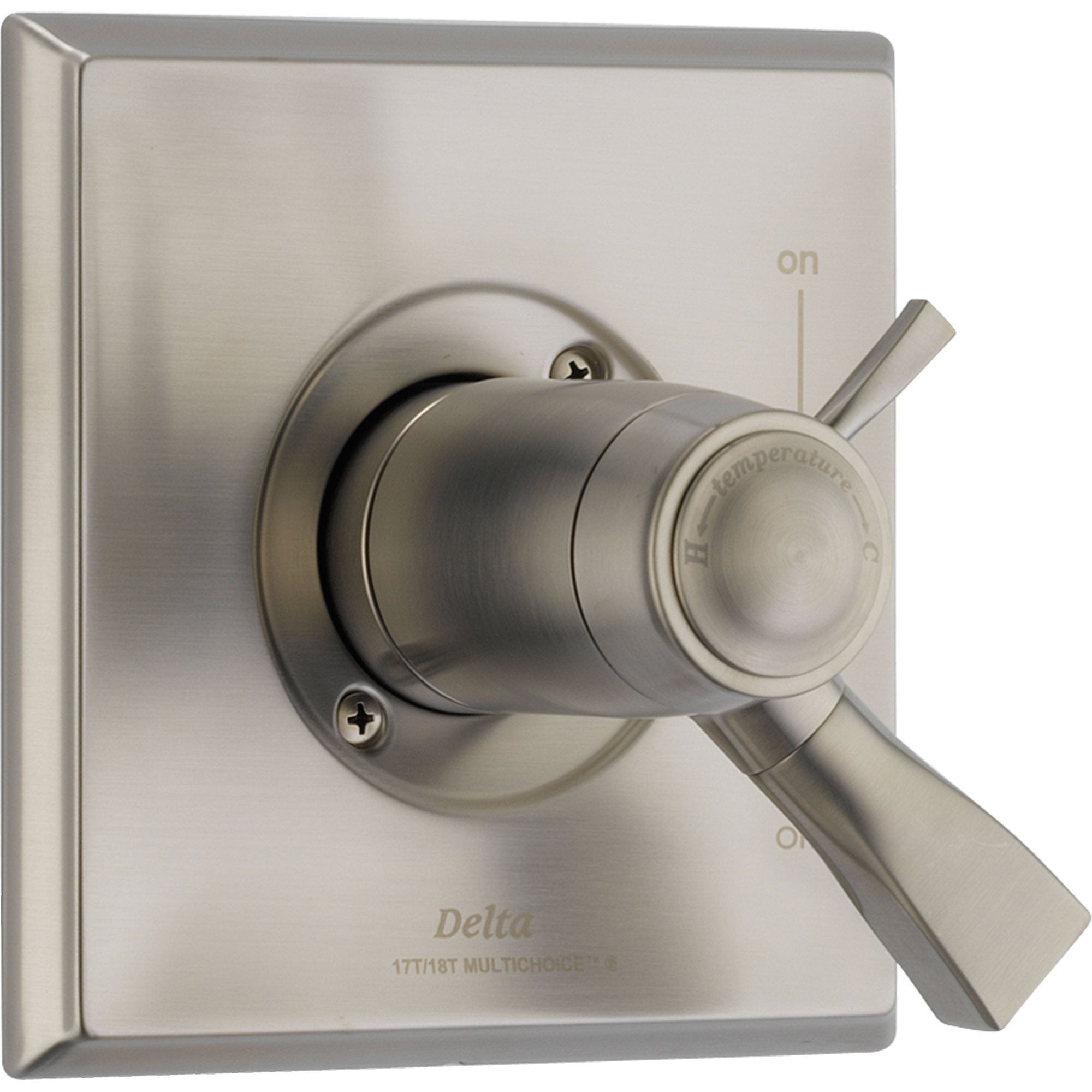 Delta Dryden Stainless Steel Thermostatic Shower Dual Control with Valve D1018V
