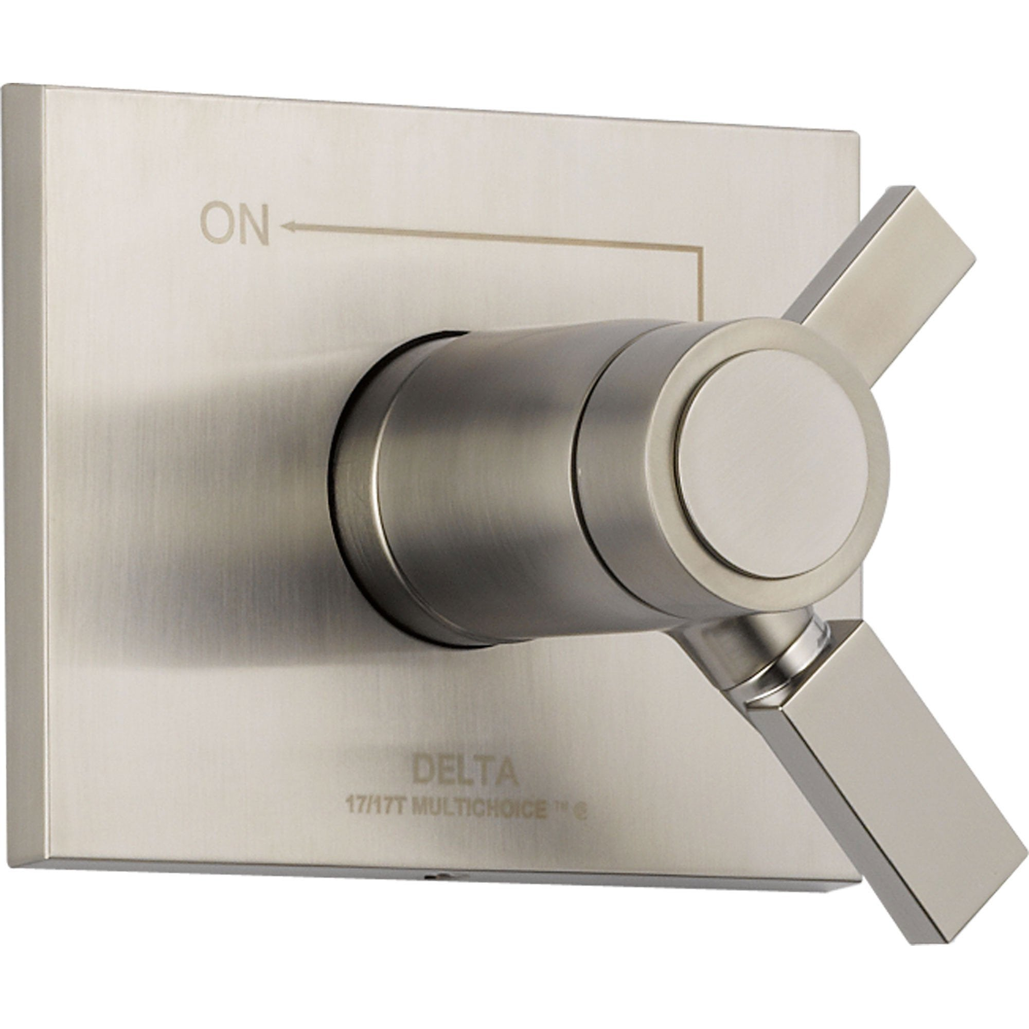 Delta Vero Stainless Steel Thermostatic Shower Dual Control with Valve D1022V