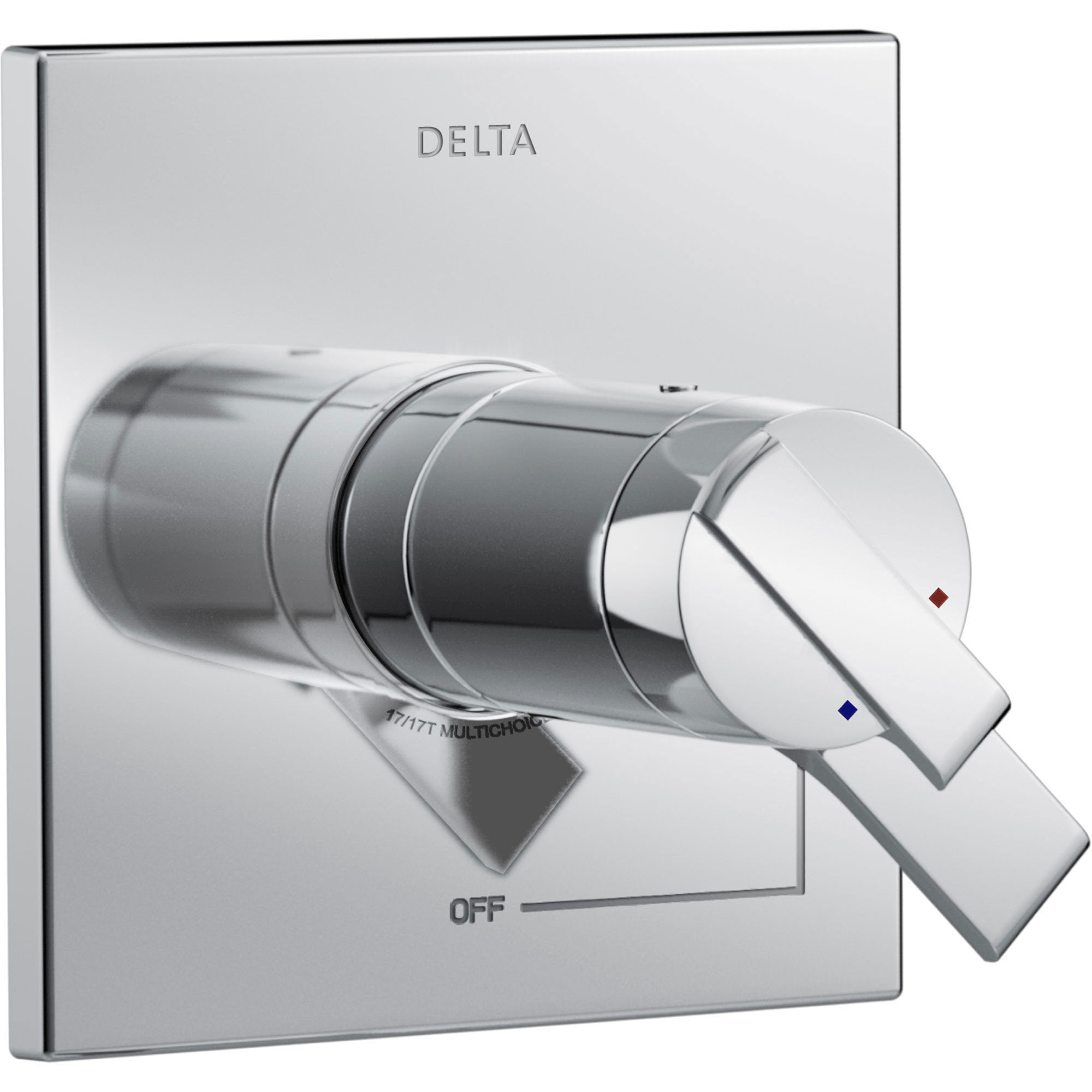 Delta Ara Modern Chrome Finish TempAssure 17T Dual Temperature and Pressure Shower Faucet Control INCLUDES Rough-in Valve with Stops D1111V