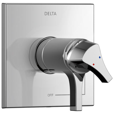 Delta Zura Collection Chrome TempAssure 17T Series Dual Temperature and Pressure Shower Faucet Control Handle Includes Rough-in Valve without Stops D1946V