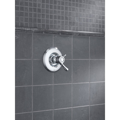 Delta Leland Chrome Thermostatic Shower Dual Control with Valve D1027V
