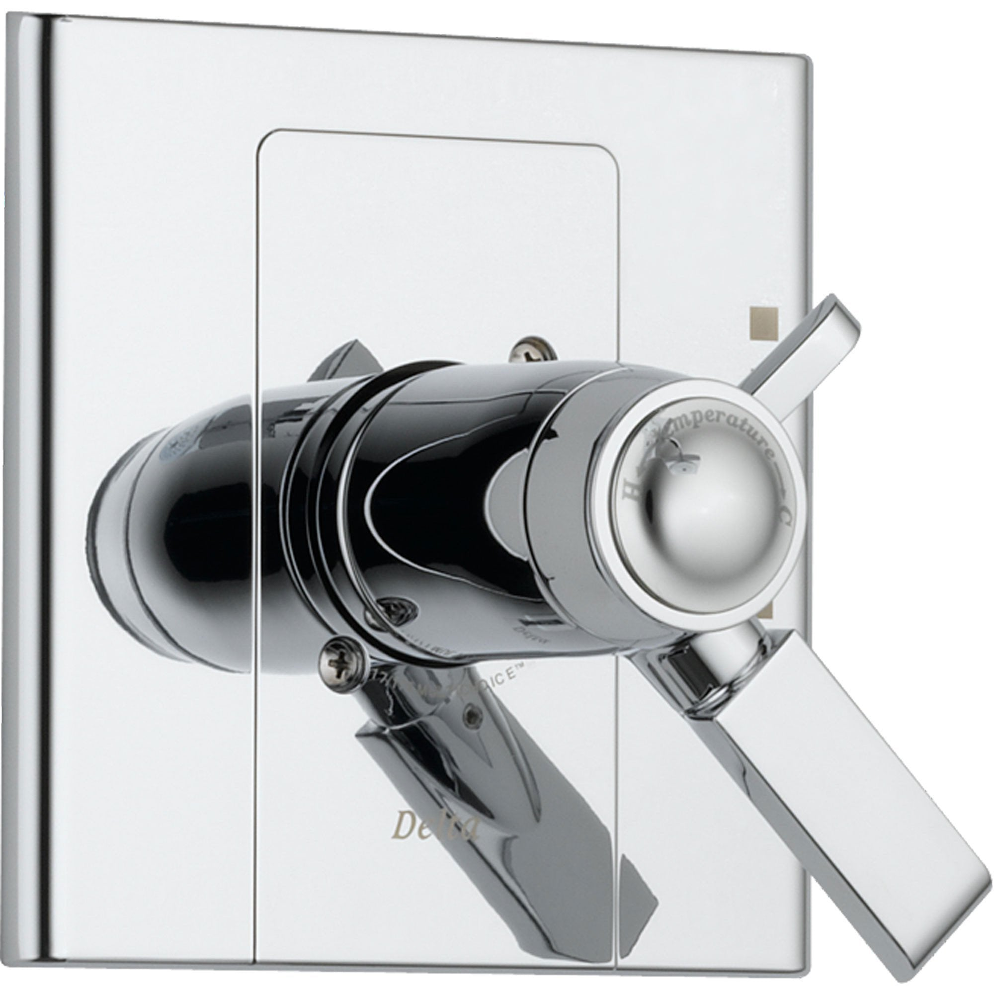 Delta Arzo Modern Chrome Thermostatic Shower Valve Dual Control Trim 550124
