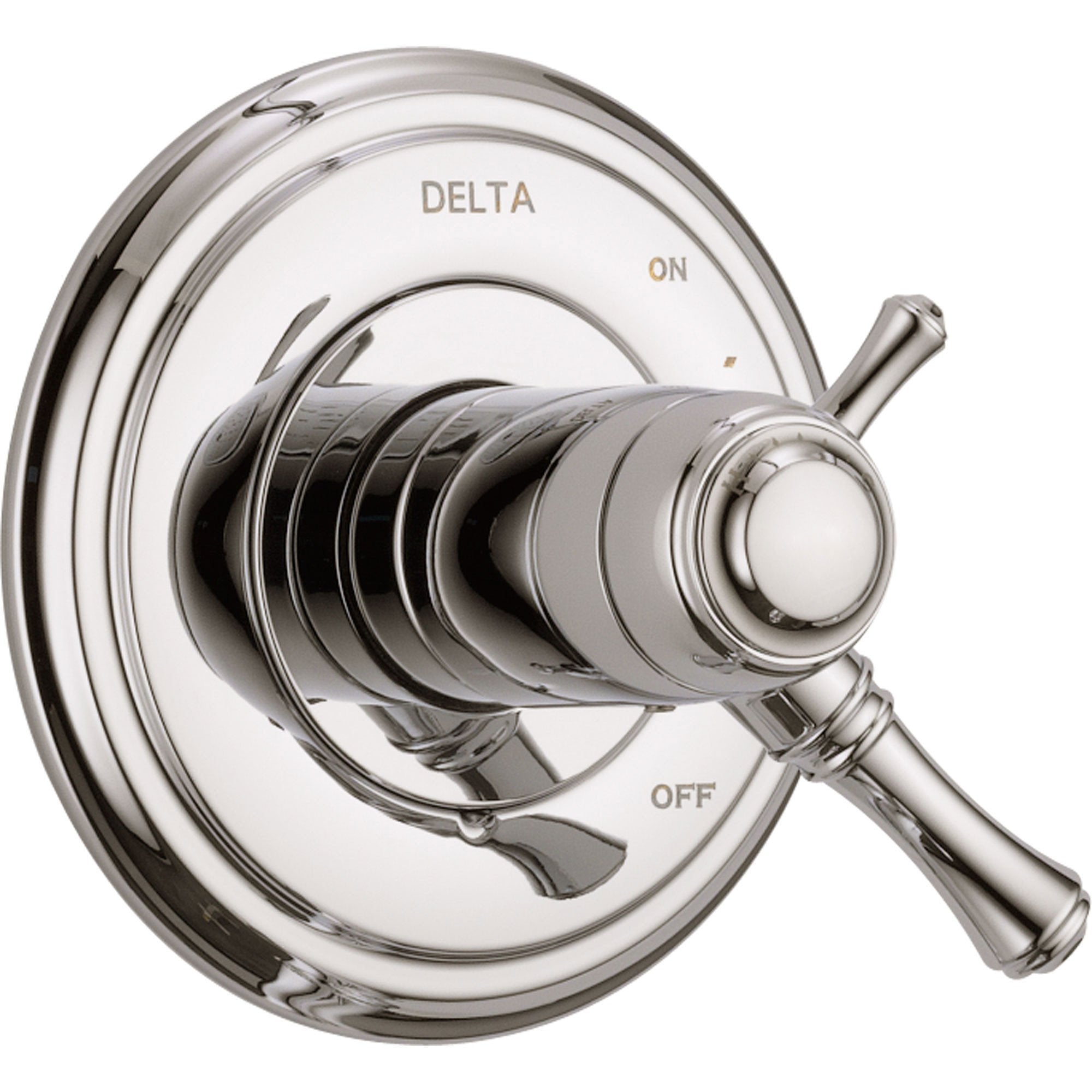 Delta Cassidy Polished Nickel Thermostatic Shower Control with Valve D1008V