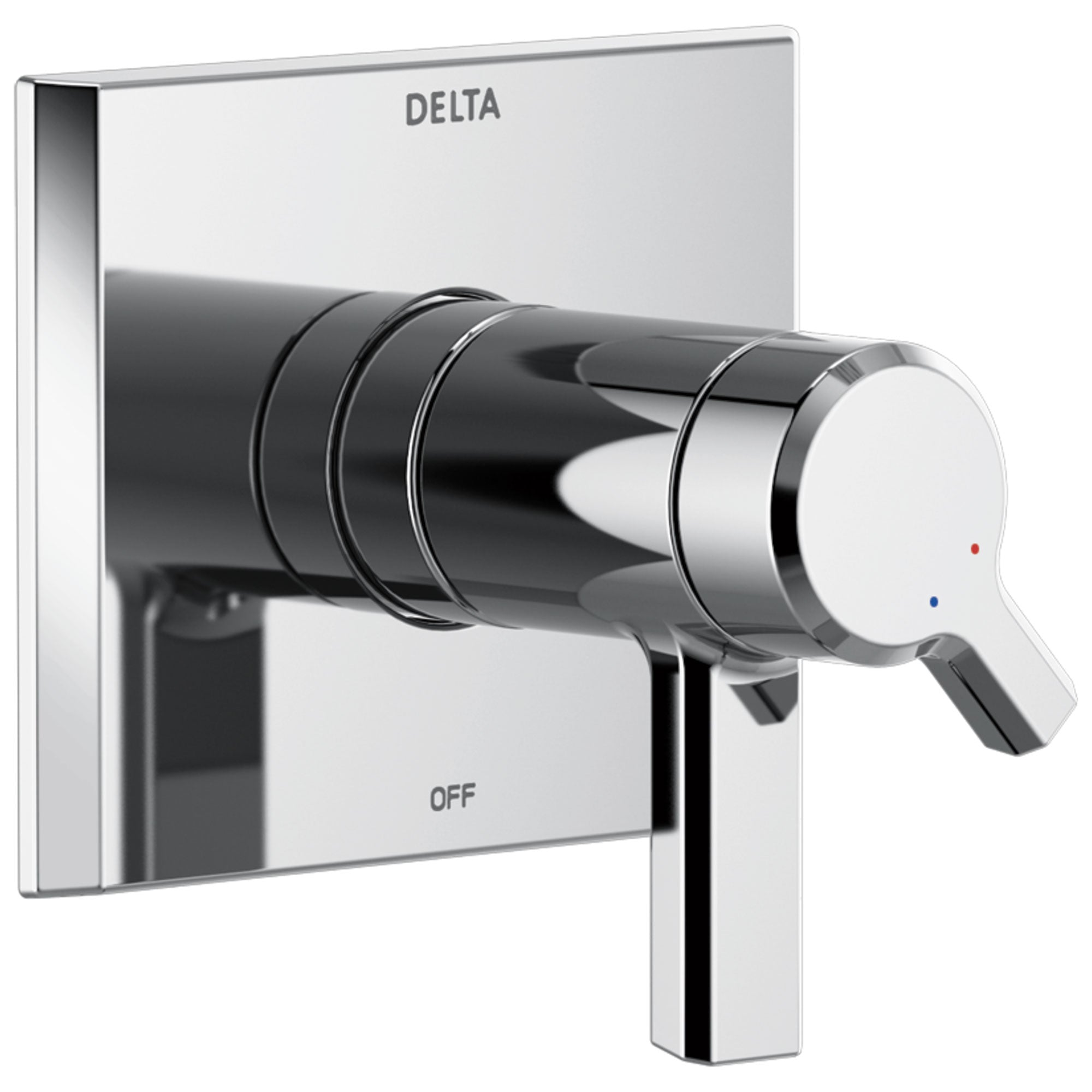 Delta Pivotal Chrome Finish TempAssure 17T Series Shower Faucet Control Only Trim Kit (Requires Valve) DT17T099