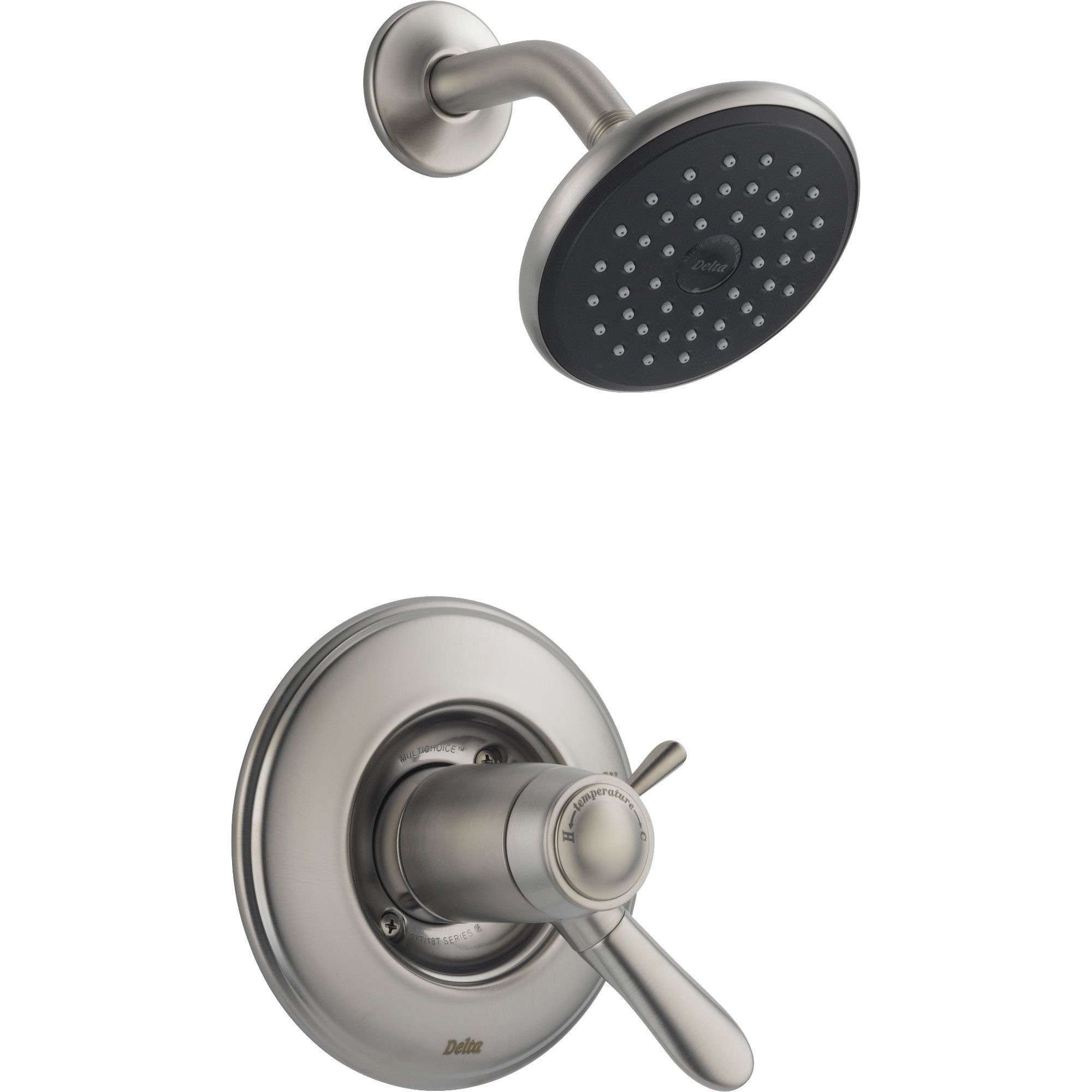 Delta Lahara Stainless Steel Thermostatic Control Shower Faucet with Valve D801V