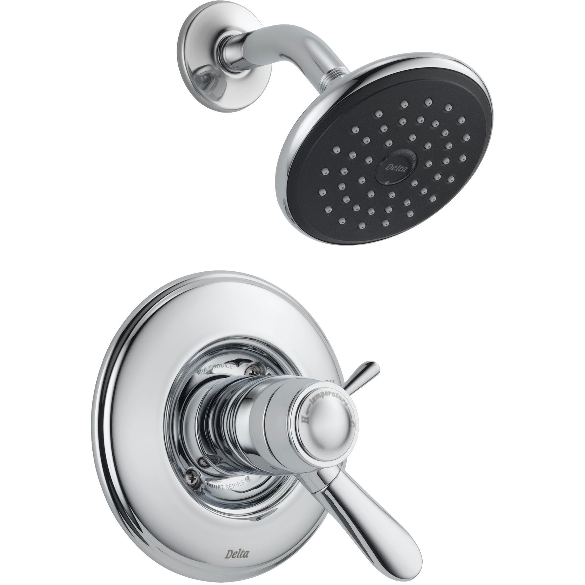 Delta Lahara Dual Control Chrome Thermostatic Shower Faucet with Valve D828V