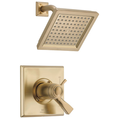 Delta Dryden Champagne Bronze Finish Thermostatic Water Efficient Shower only Faucet Includes Handles, 17T Cartridge, and Valve with Stops D3294V