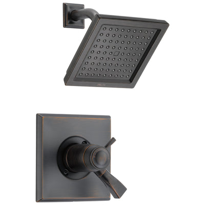 Delta Dryden Collection Venetian Bronze 1.75 GPM Thermostatic Dual Temp / Pressure Control Shower only Faucet Includes Rough Valve with Stops D2266V
