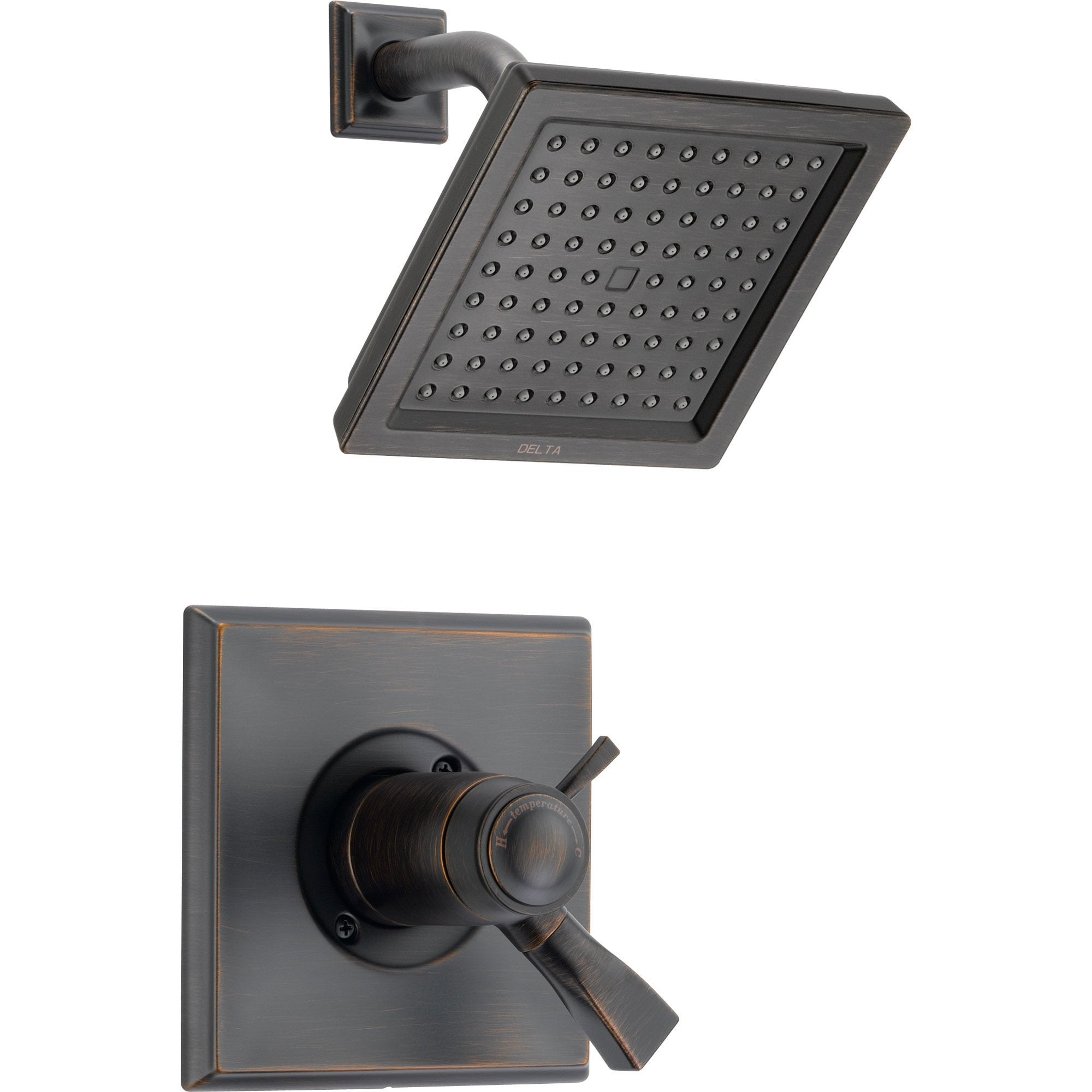 Delta Dryden Venetian Bronze Modern Thermostatic Shower Control with Valve D833V
