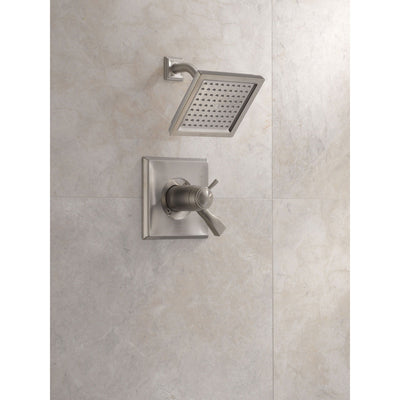 Delta Dryden Collection Stainless Steel Finish Thermostatic Dual Temp / Pressure Control Shower only Faucet Includes Rough-in Valve with Stops D2264V