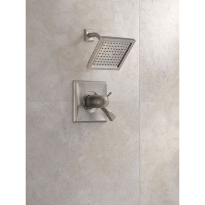 Delta Dryden Collection Stainless Steel Finish 1.75 GPM Thermostatic Dual Temp / Pressure Control Shower only Faucet Includes Rough-in Valve with Stops D2262V